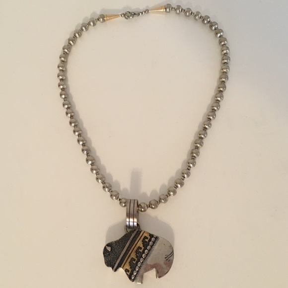 Buffalo Necklace Sterling Silver